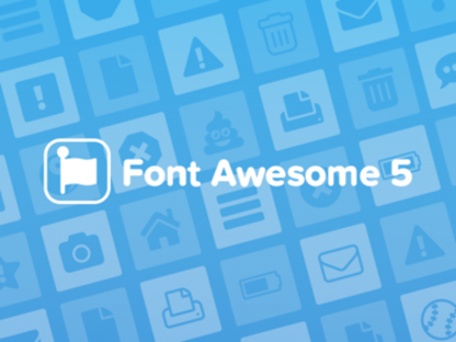 Font Awesome 5 icon set preview