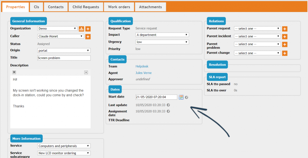 Backoffice: Dates & times in object details