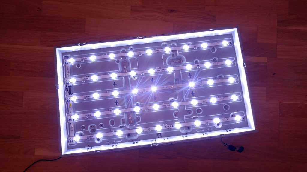 Backlight working without burnt LED